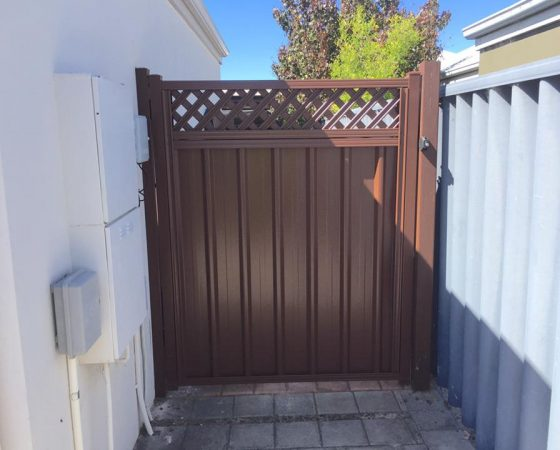 Colorbond Gate With Lattice, Baldivis (Rivergums)