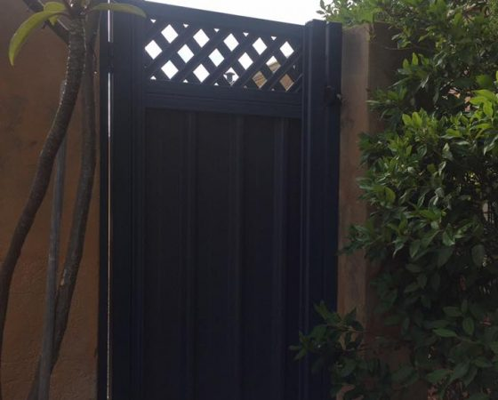 Single Colorbond Gate & Lattice, Jandakot