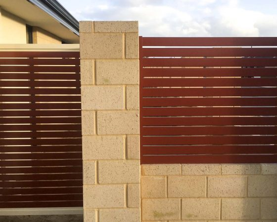 Slat Fencing and Gate In Baldivis (Heritage Park)
