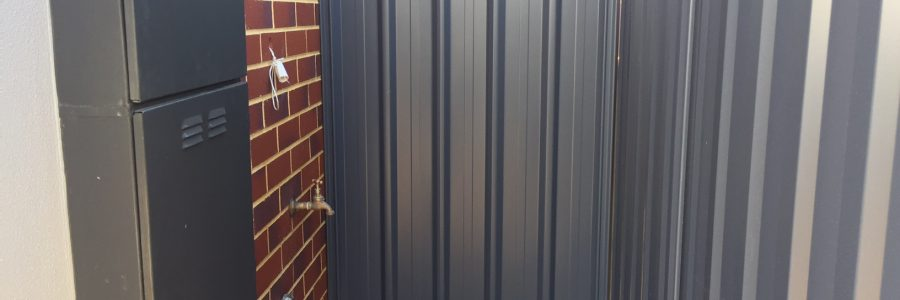 Colorbond panel to the side of your house for your security.