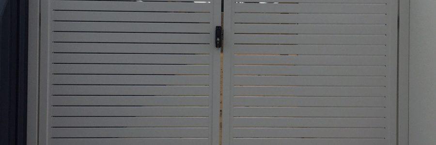 Aluminium Slat Gates Surf Mist in Baldivis