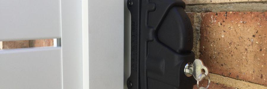Double Sided Key Lock Latch