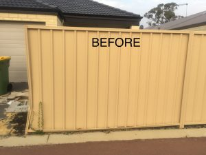 damaged fence repair before3