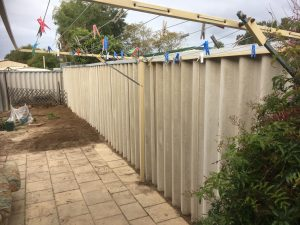 damaged fence replacement