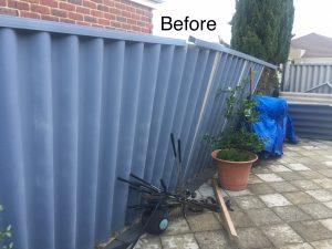 hardie fence damaged rockingham