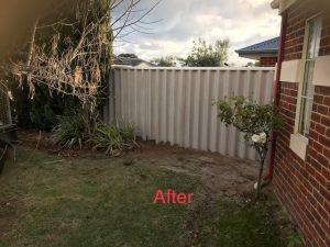 hardie fence installed