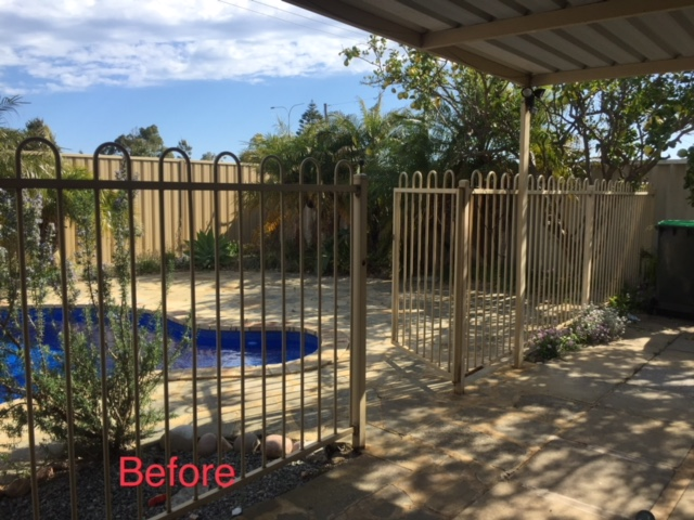 aluminium tubular pool fencing beforeshot